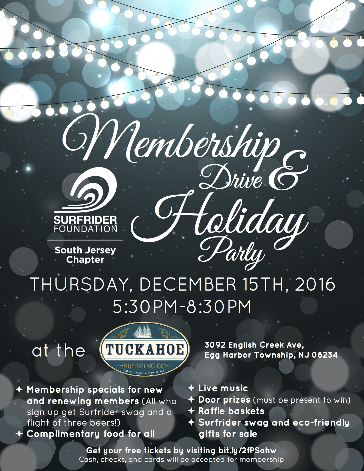 Membership Drive & Holiday Party Announced!